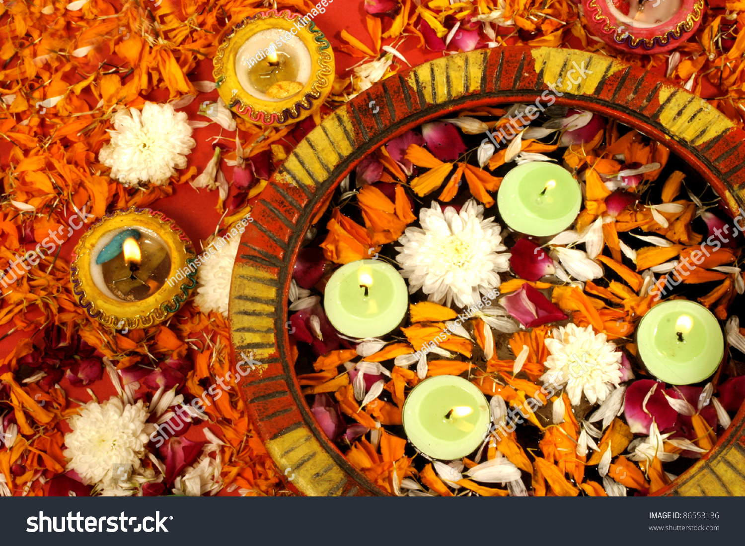 Indian Festival Decoration Diwali Decoration On Traditional Indian Festival Of Lights Stock