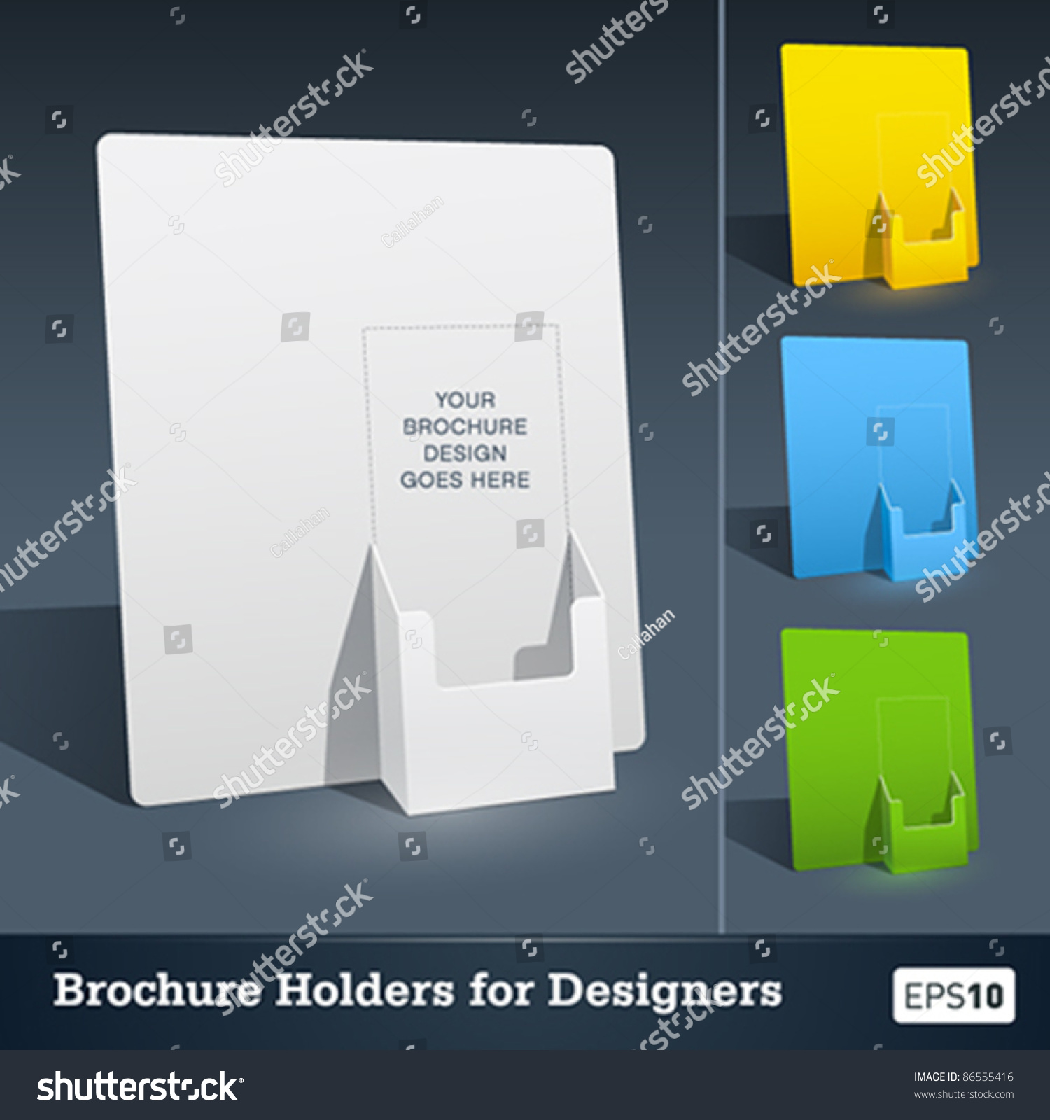 Blank brochure holder template designers stock vector for Brochure holder template