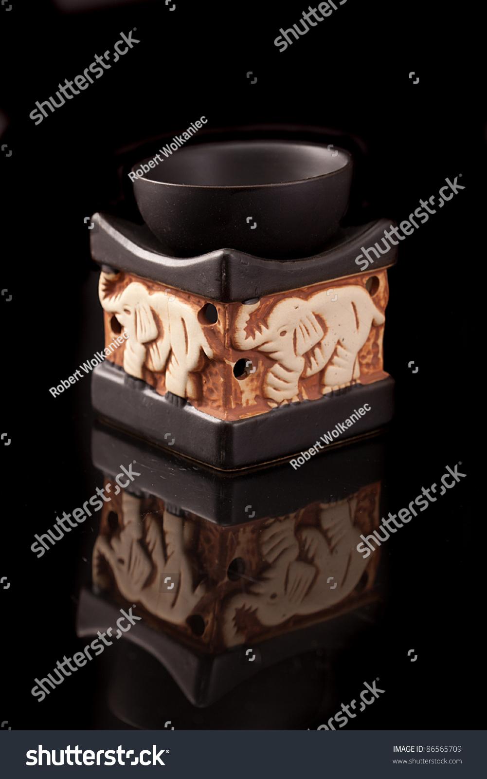 Fireplace Fragrance Fragrance Oil Lamp Stock Photo 86565709 ...