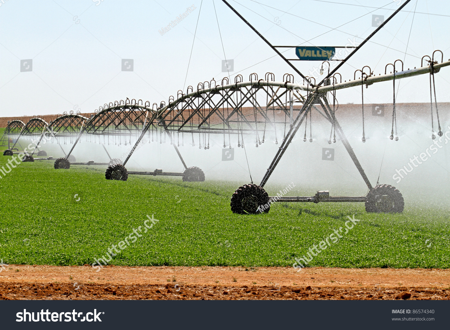 Modern Irrigation System South Africa Stock Photo 86574340 ...