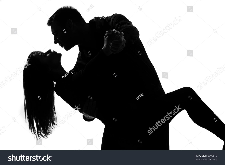 One Caucasian Couple Lovers Man Woman Stock Photo 86590816 ...