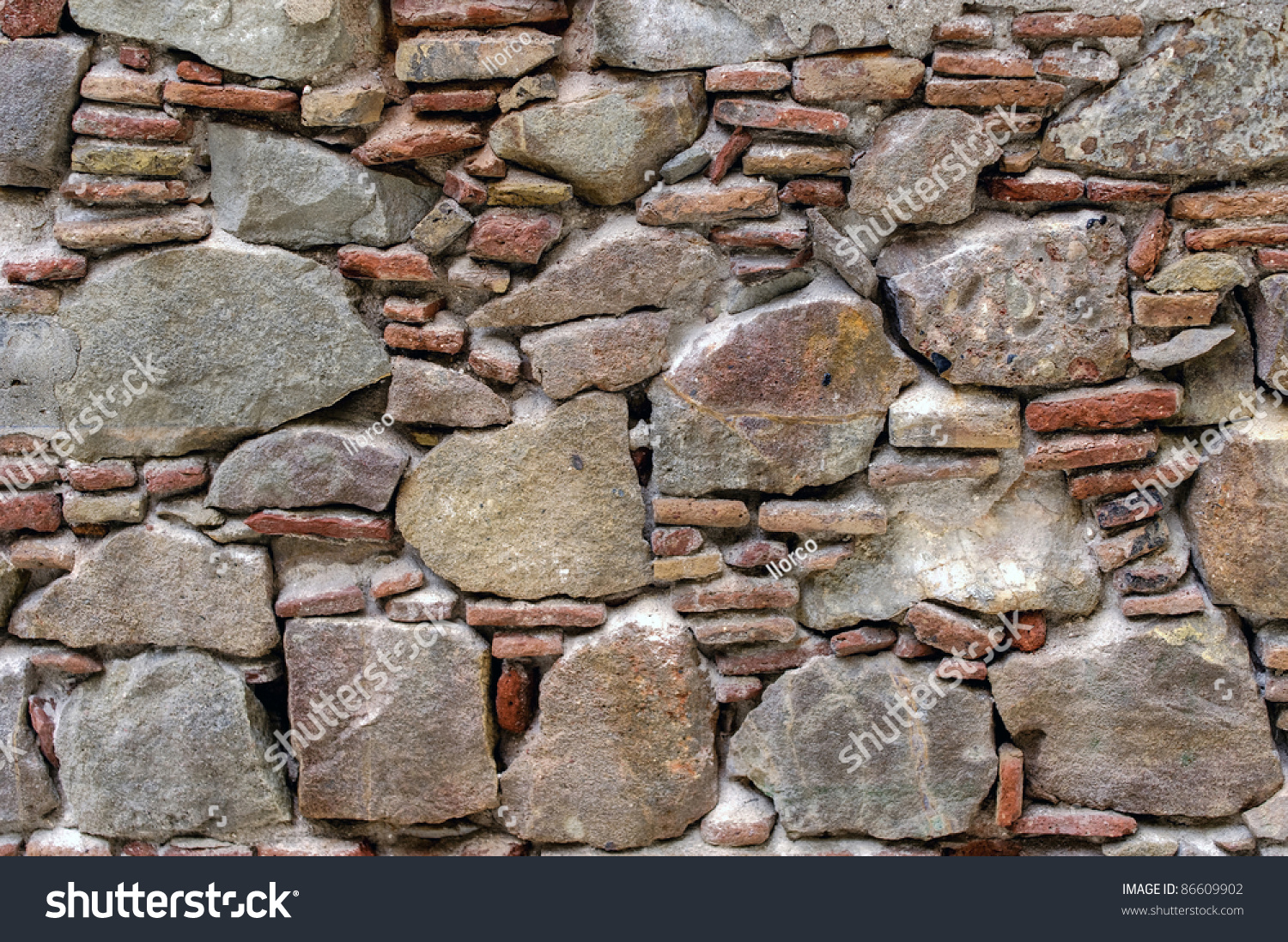 Antiguo muro de piedra stock photo 86609902 shutterstock - Muro de piedra ...