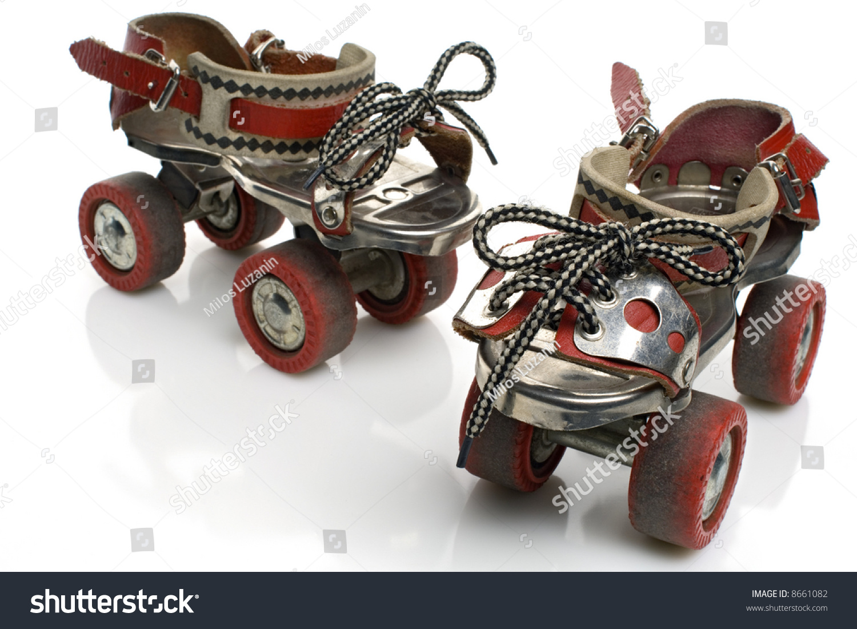 Roller skates for sale dubai - A Pair Of Vintage Roller Skates On White