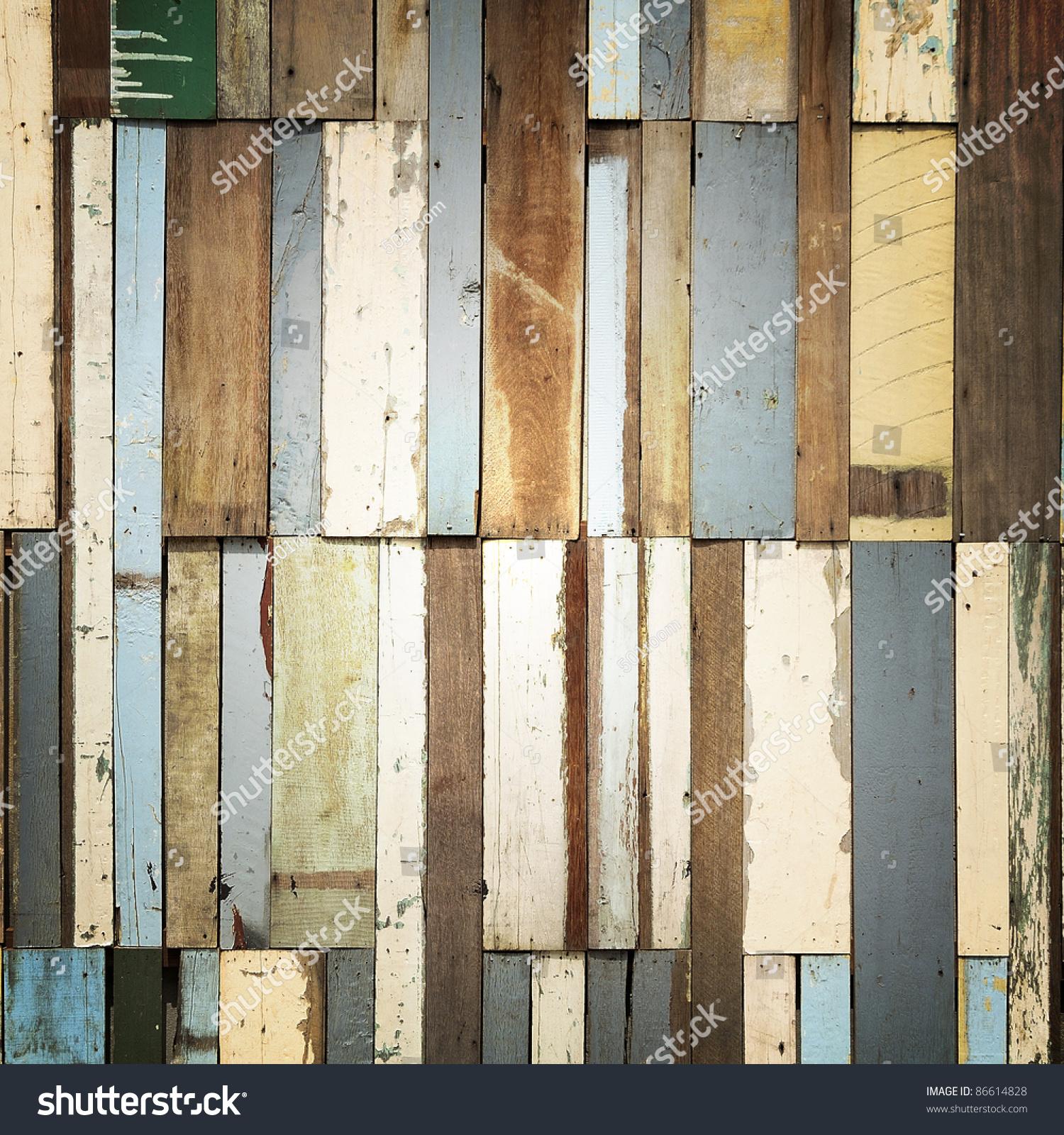 Modify Wood Pattern Decoration Wall Stock Photo