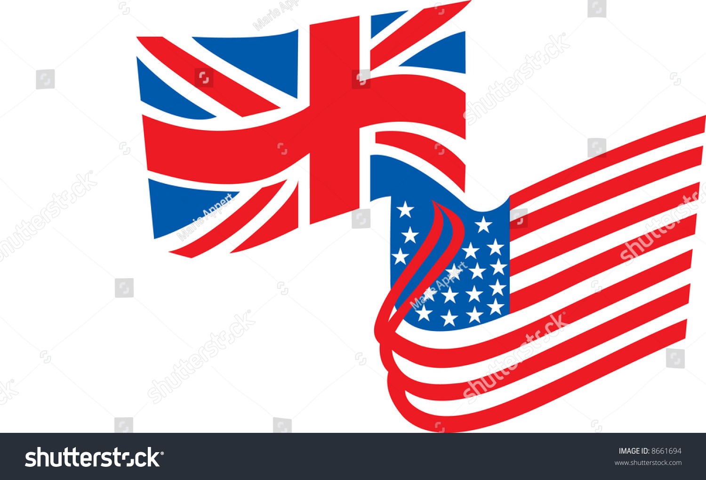 british american flag combined stock vector 8661694 shutterstock