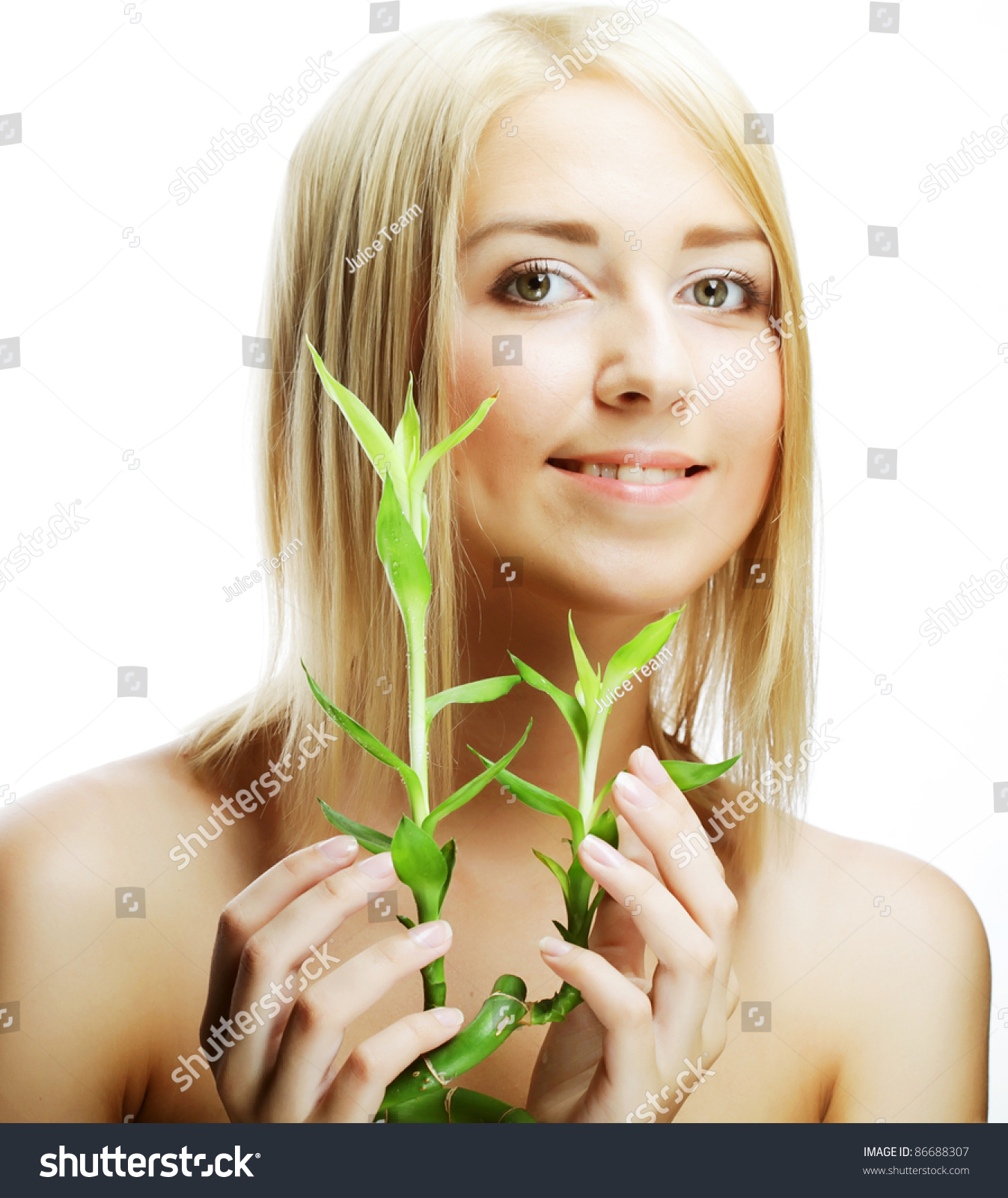 Spa young woman bamboo stock photo 86688307 shutterstock for Salon younga