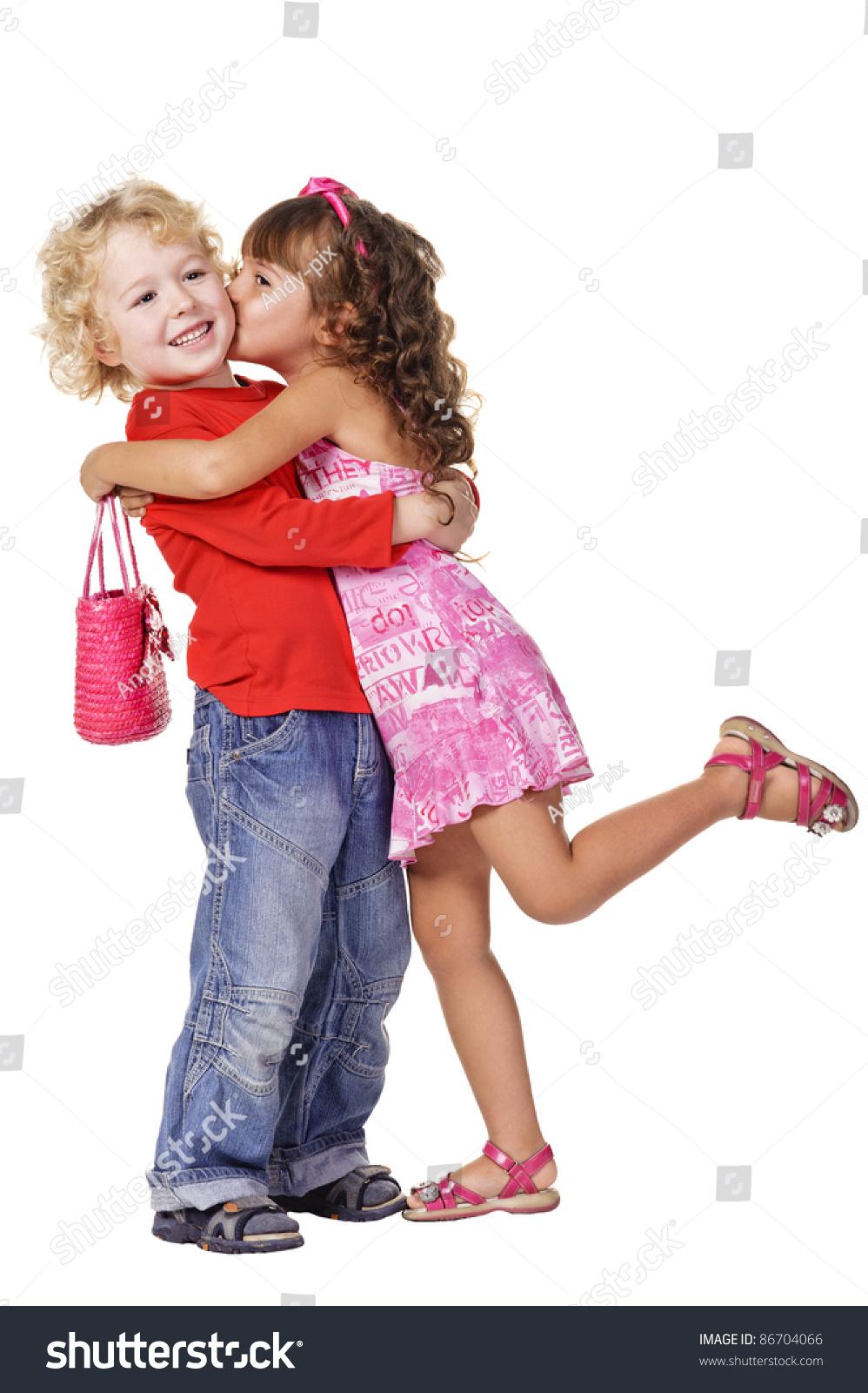 Little Girl Kissing Beautiful Little Boy Stock Photo 86704066 - Shutterstock-3235