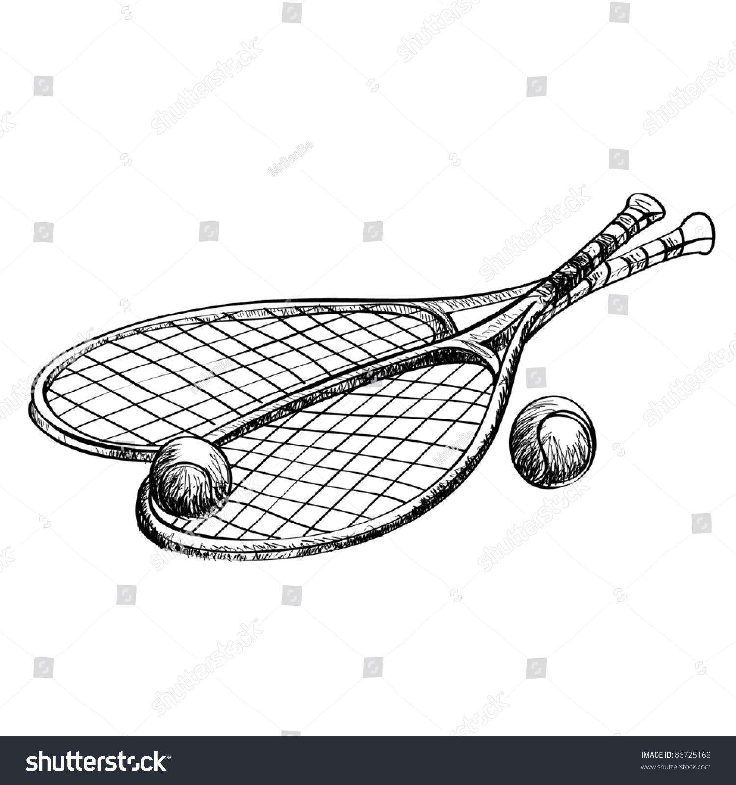 tennis racquet how to draw easy