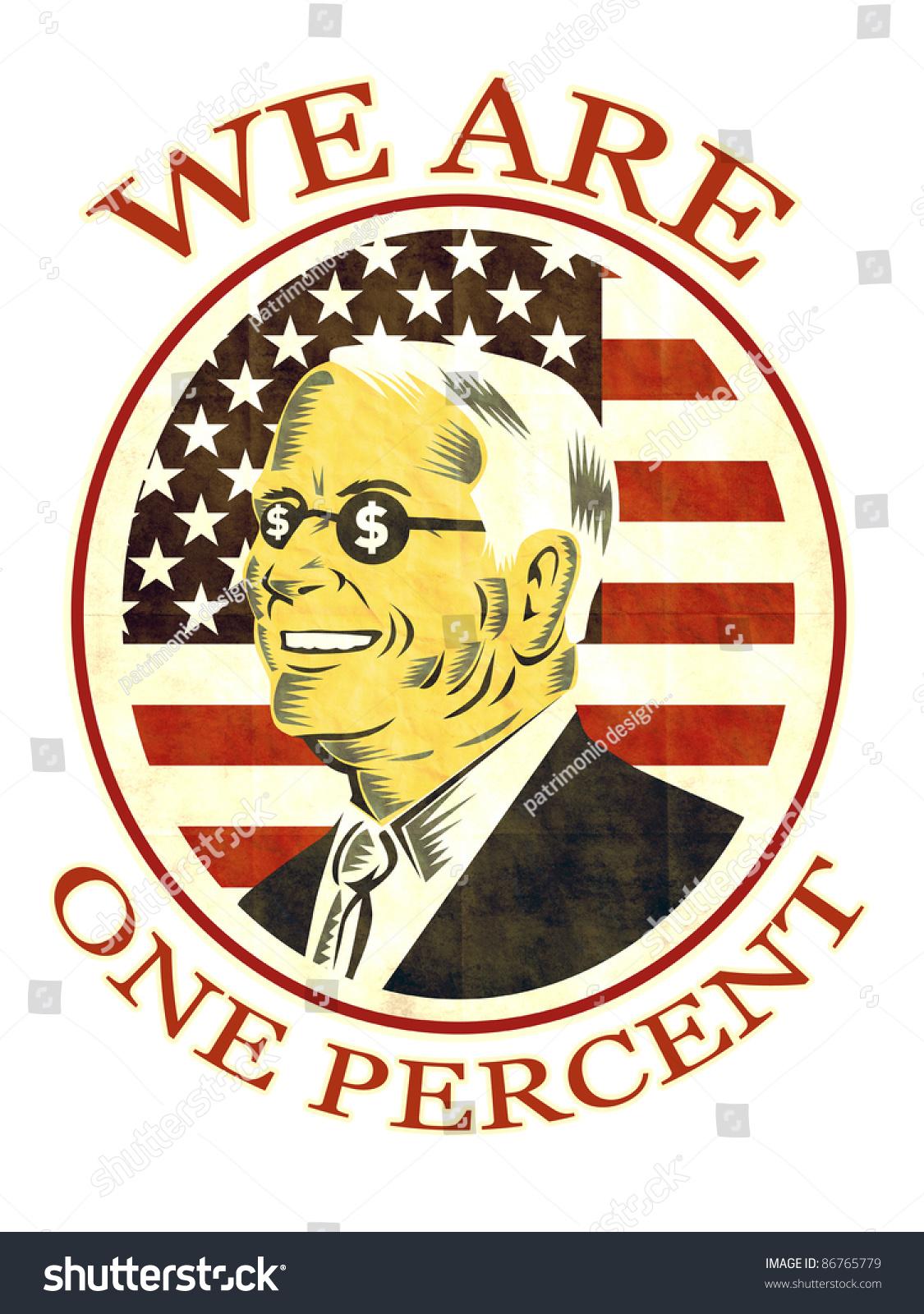 Illustration American Businessman Dollar Sing On Stock Illustration ...