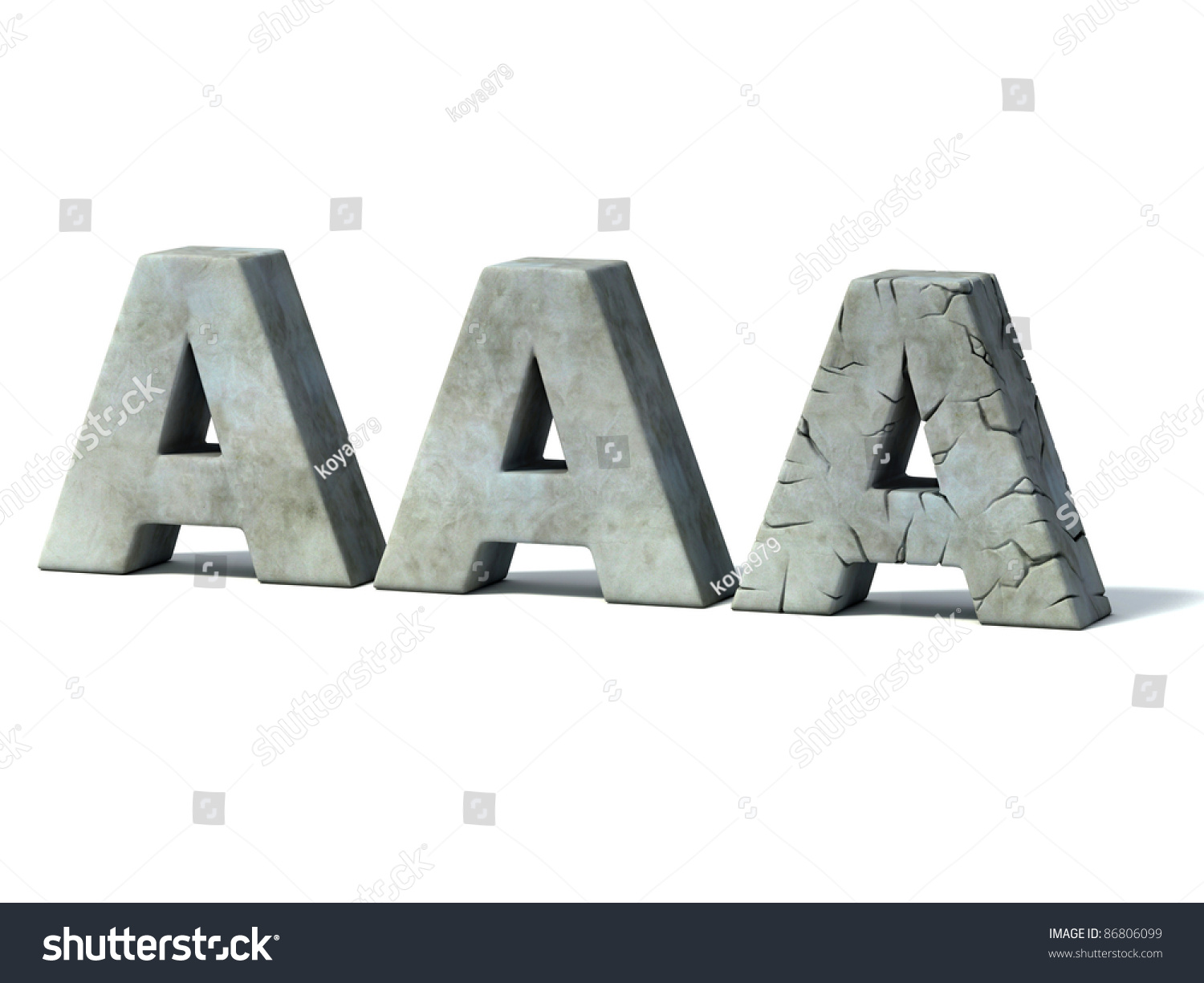 Credit Rating Downgrade Aaa 3 D Concept Stock Illustration 86806099