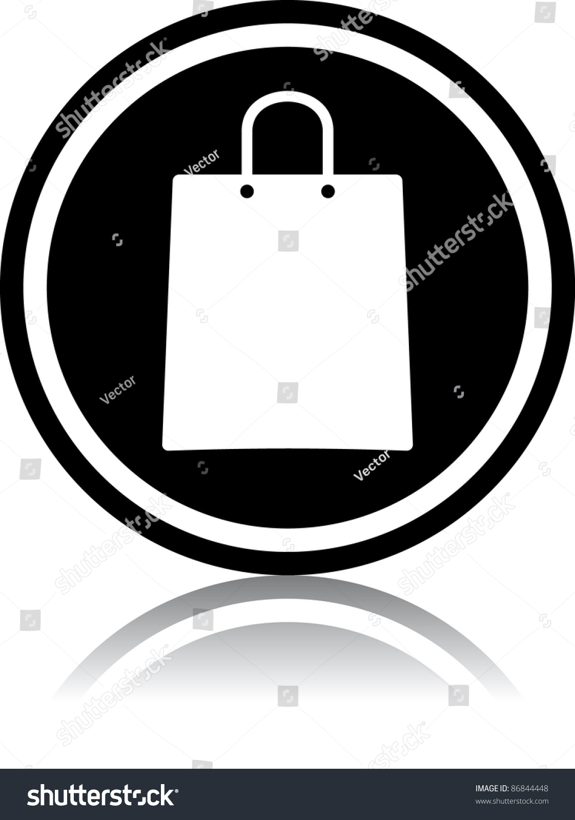 Vector Shopping Bag Icon Stock Vector 86844448 - Shutterstock