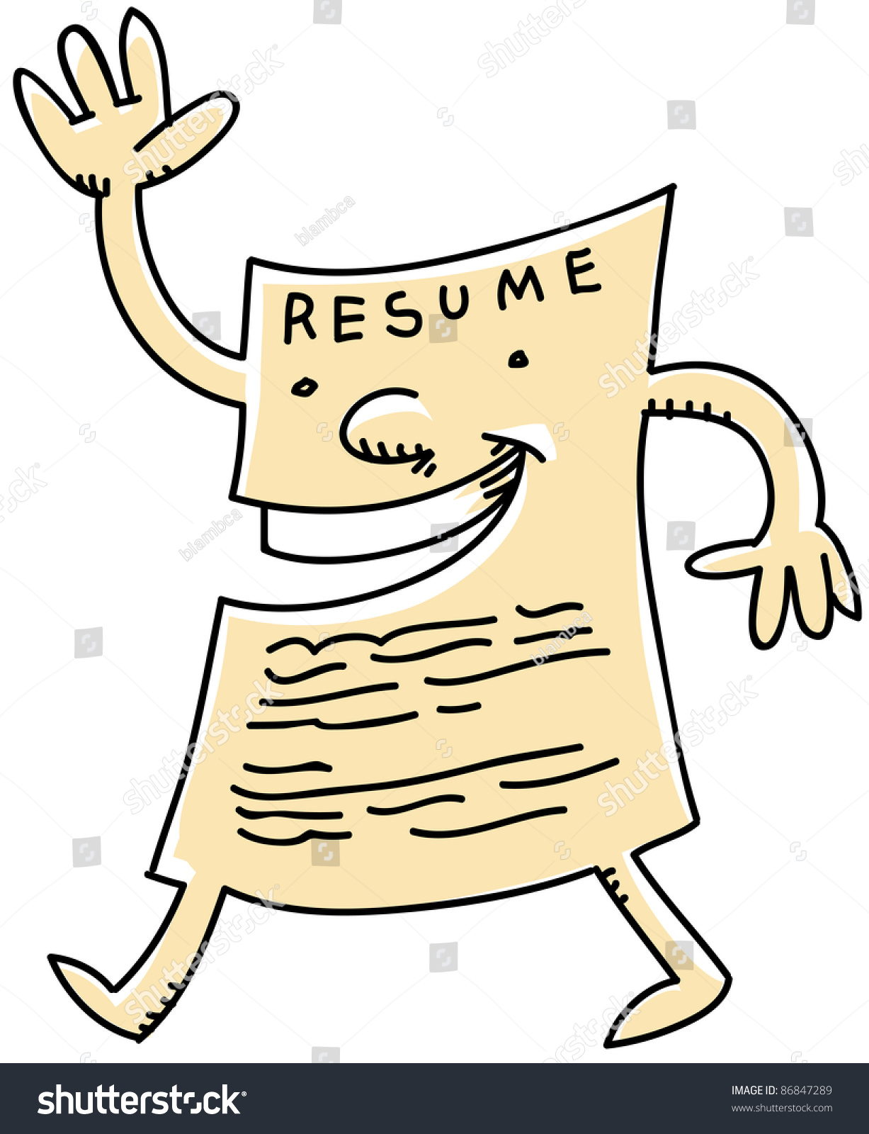 List of Synonyms and Antonyms of the Word: resume cartoon