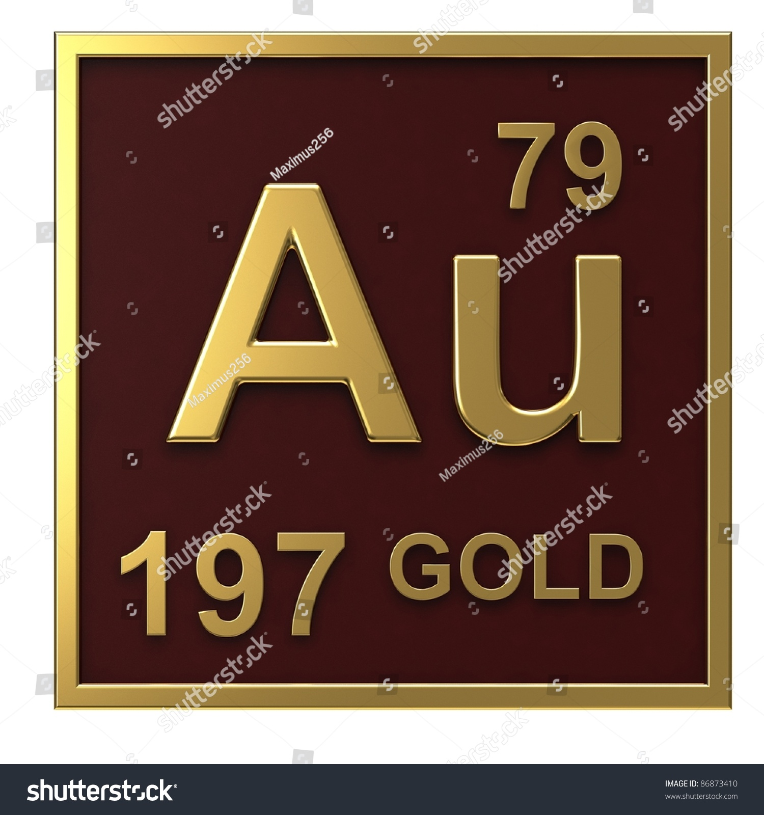 Element periodic table gold isolated on stock illustration element of the periodic table gold isolated on white background gamestrikefo Images