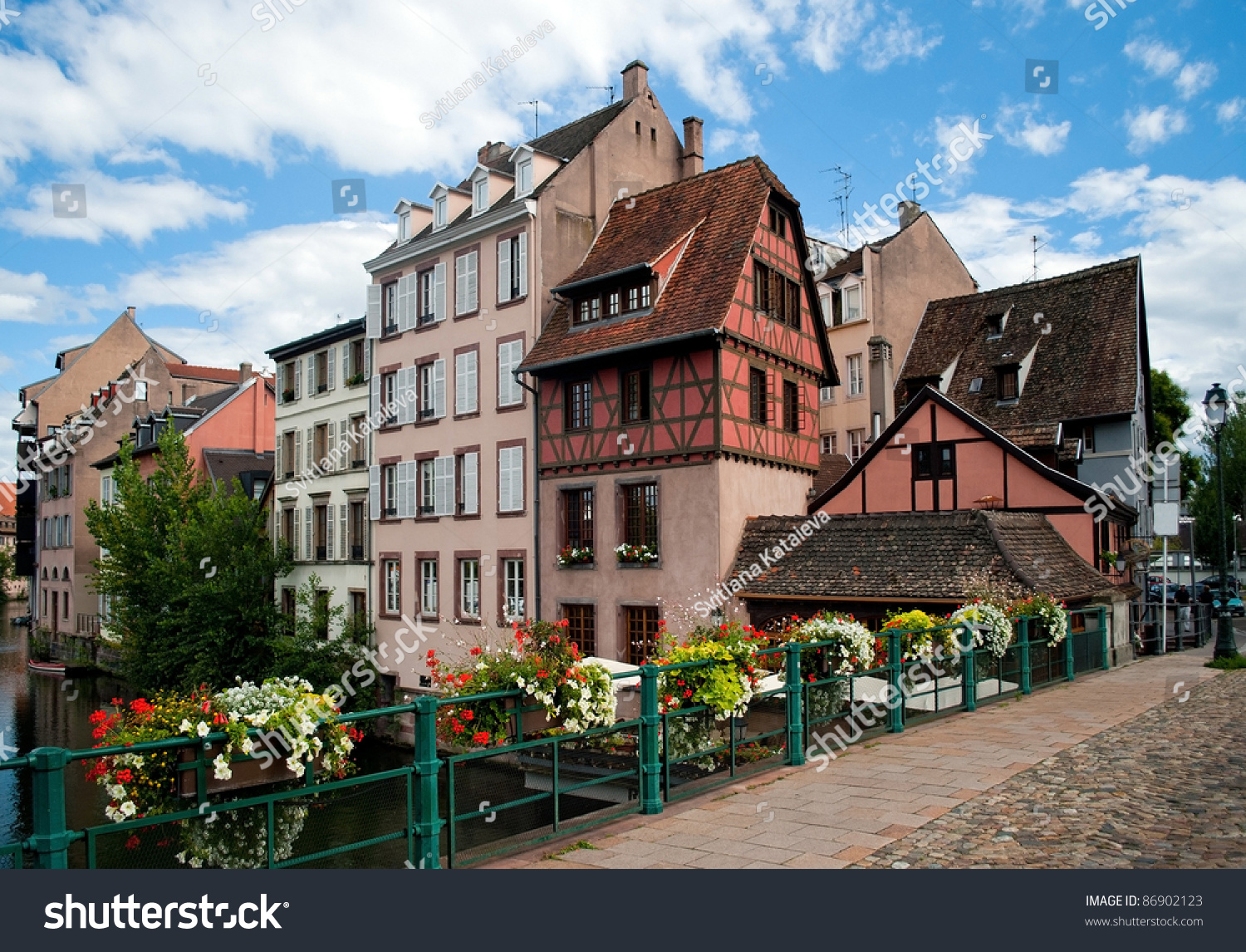 Strasbourg small france architecture stock photo 86902123 for Strasbourg architecture