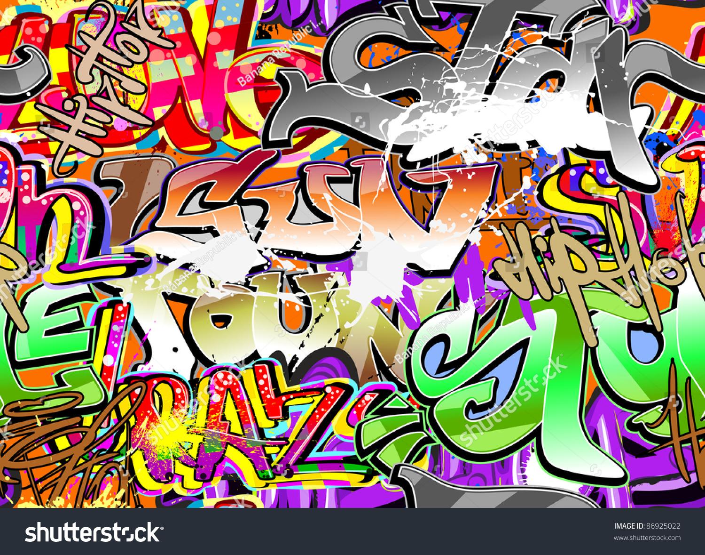 Graffiti wall vector free - Graffiti Wall Vector Abstract Background