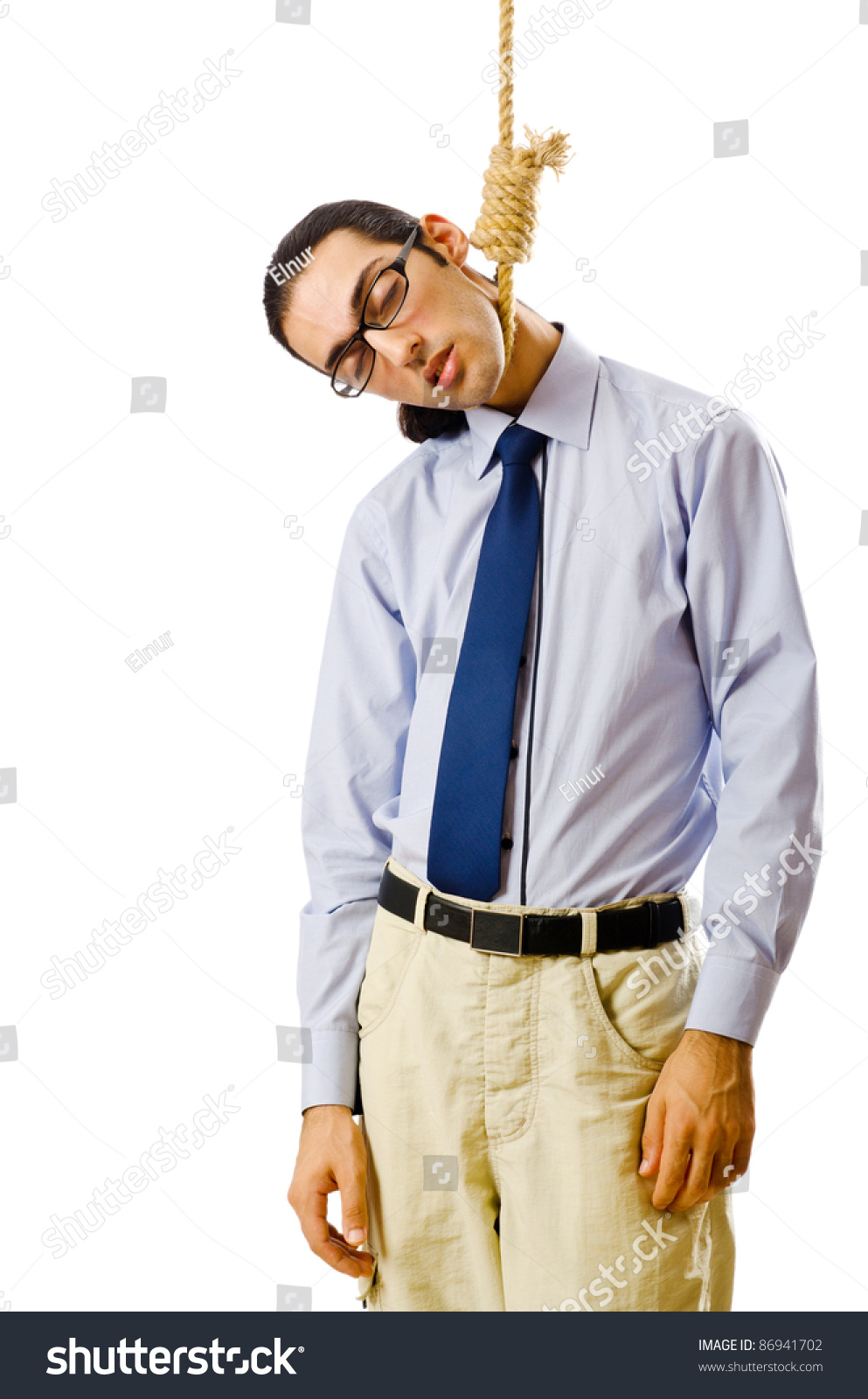 Stock Photo Aletia 164802918: Businessman Thoughts Suicide Stock Photo 86941702