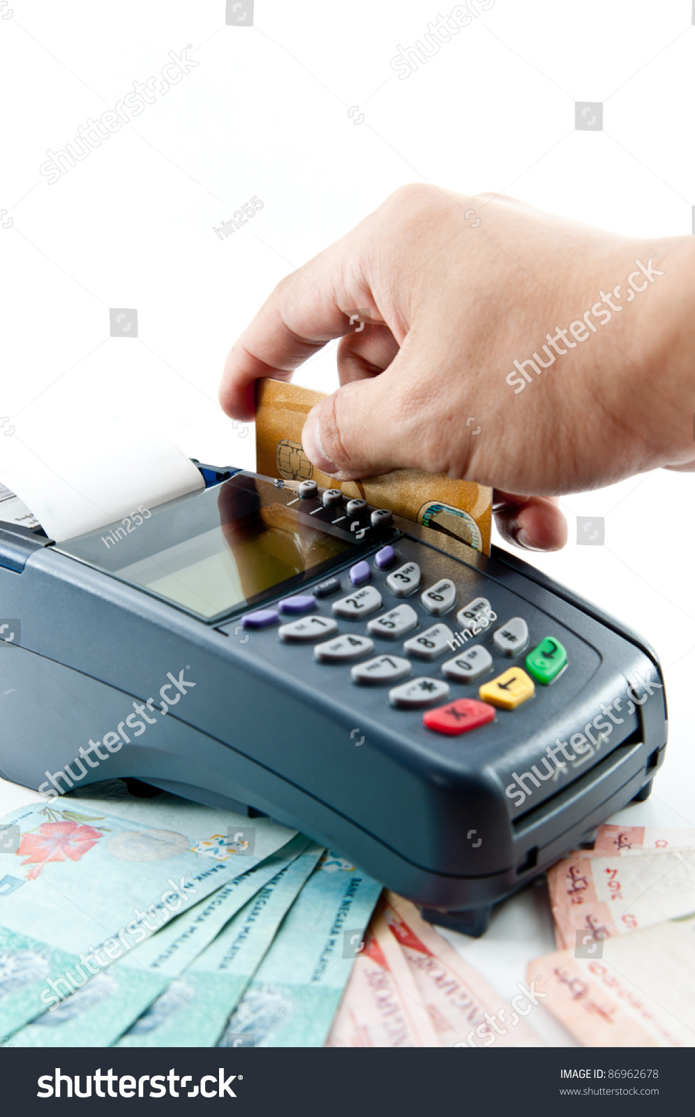 machine for credit card payment