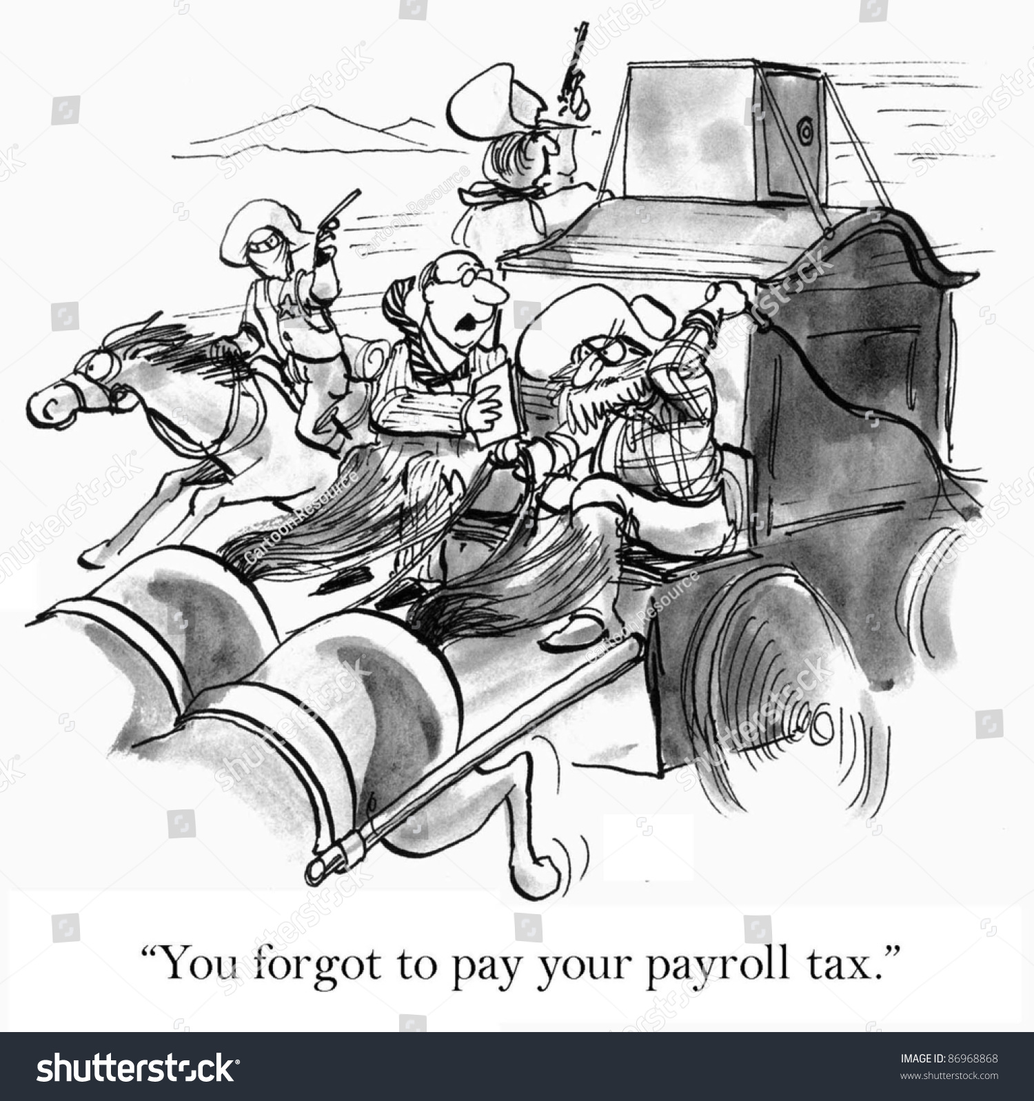 You Forgot Pay Your Payroll Tax Stock Illustration