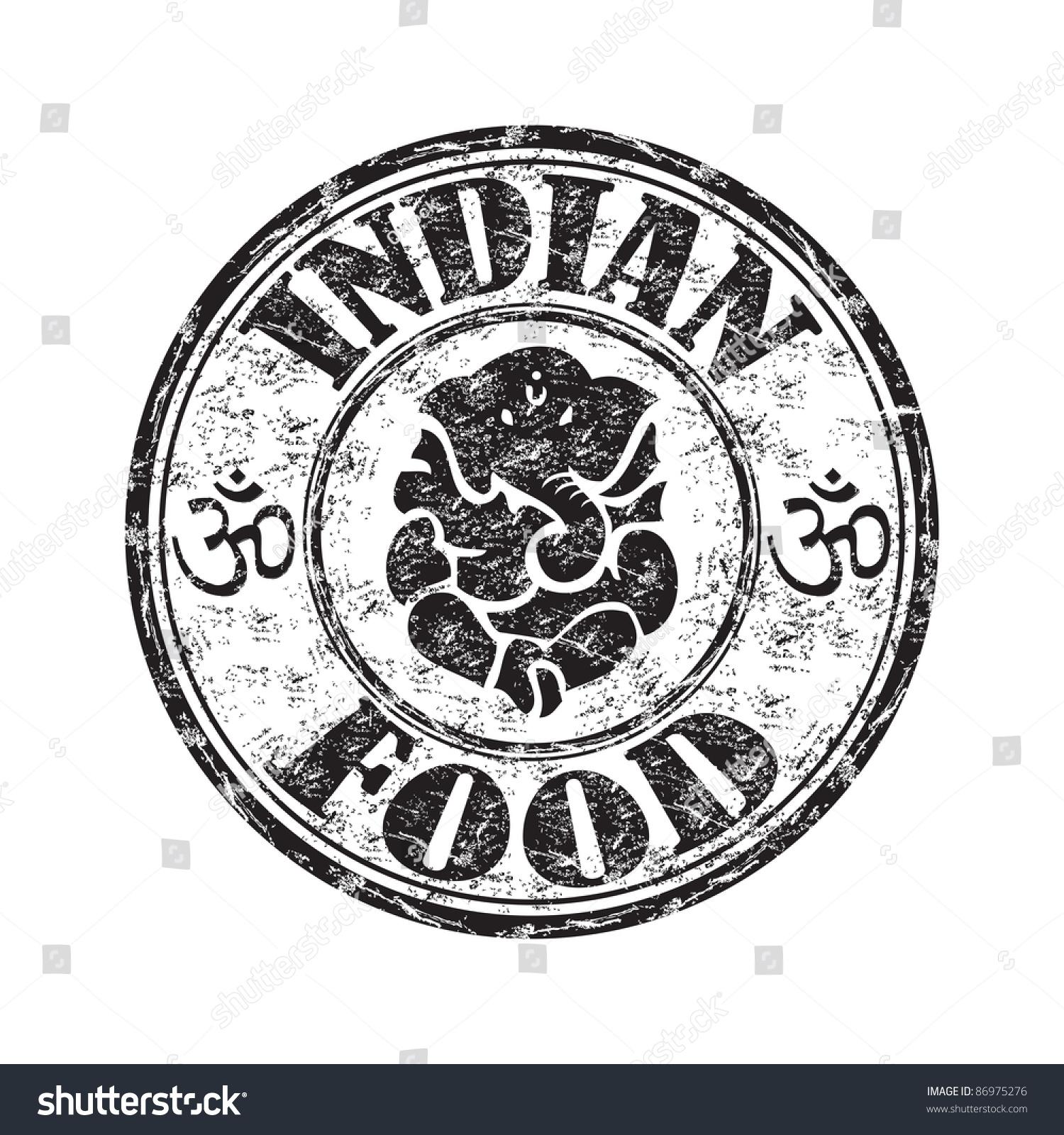 Black grunge rubber stamp indian elephant stock vector 86975276 black grunge rubber stamp with an indian elephant symbol and the text indian food written inside buycottarizona Images