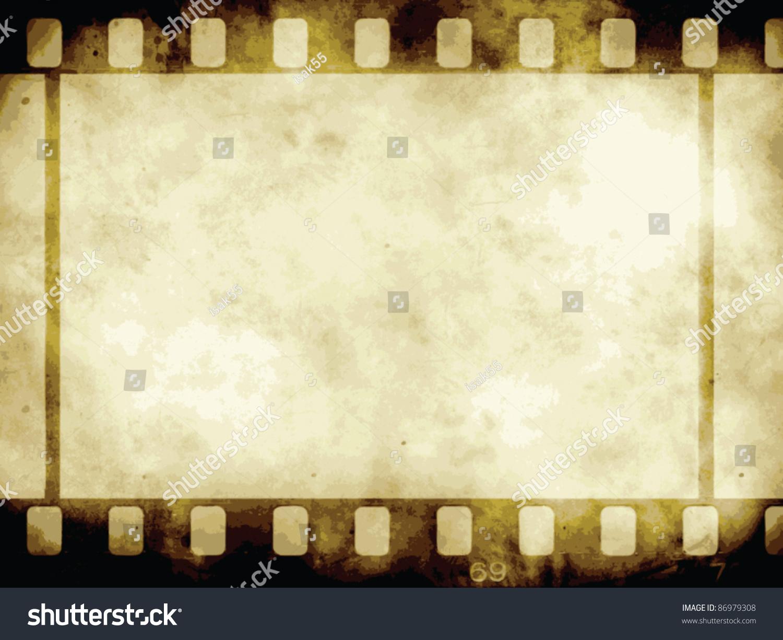 Vintage Background Film Flame Vector Format Stock Vector 86979308 ...
