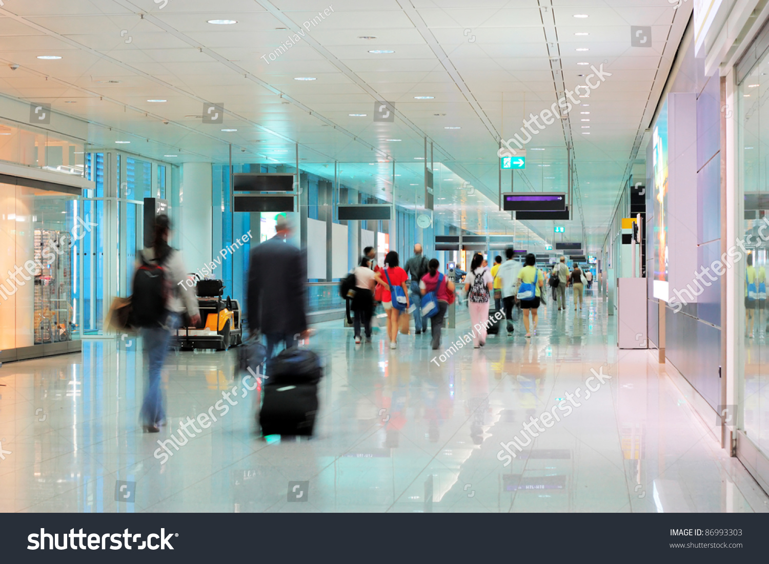 Airport Terminal Stock Photo 86993303 : Shutterstock