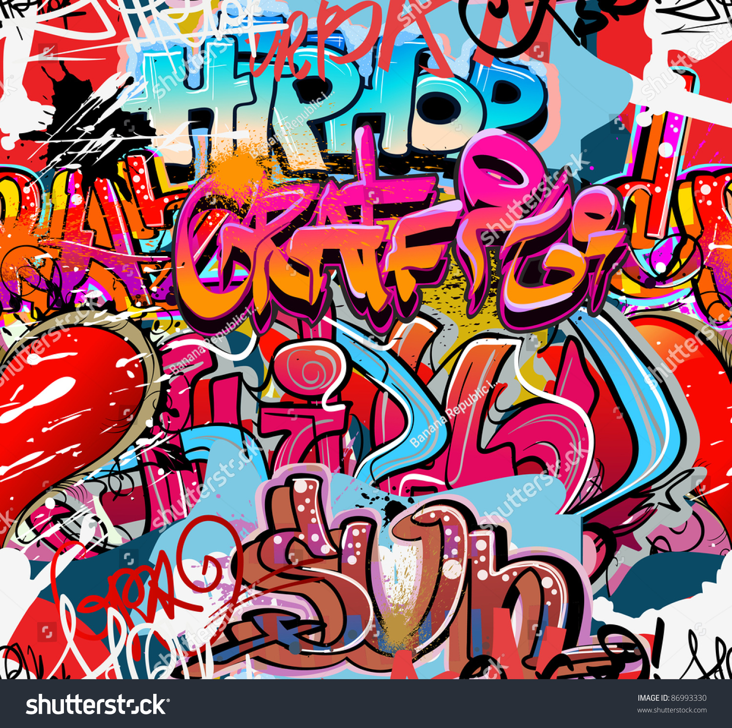 Grafitti wall background - Graffiti Wall Urban Hip Hop Background