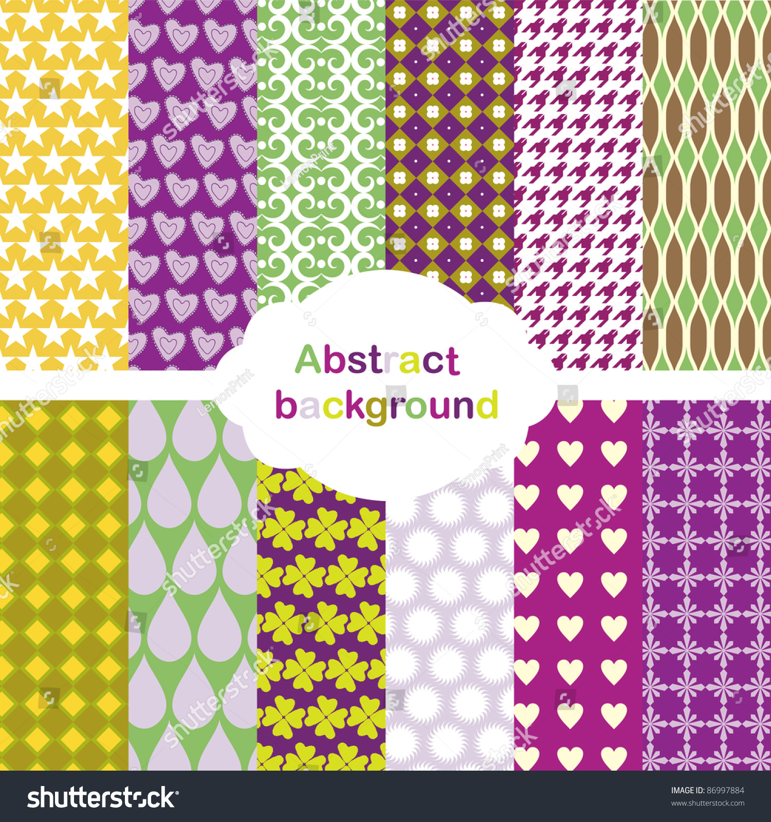 Set Of Abstract Backgrounds Stock Vector Illustration