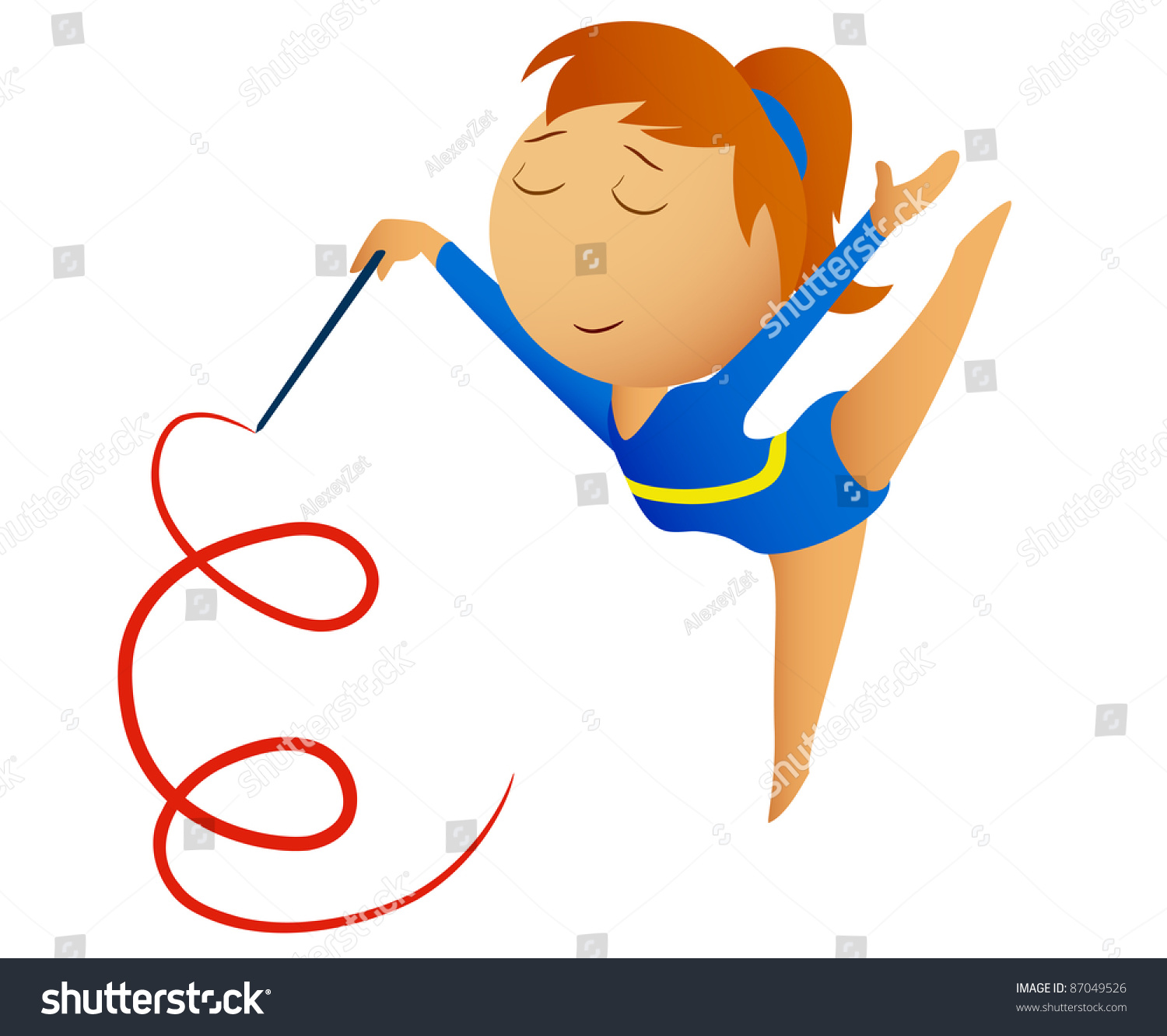 gymnastic ribbon how to make