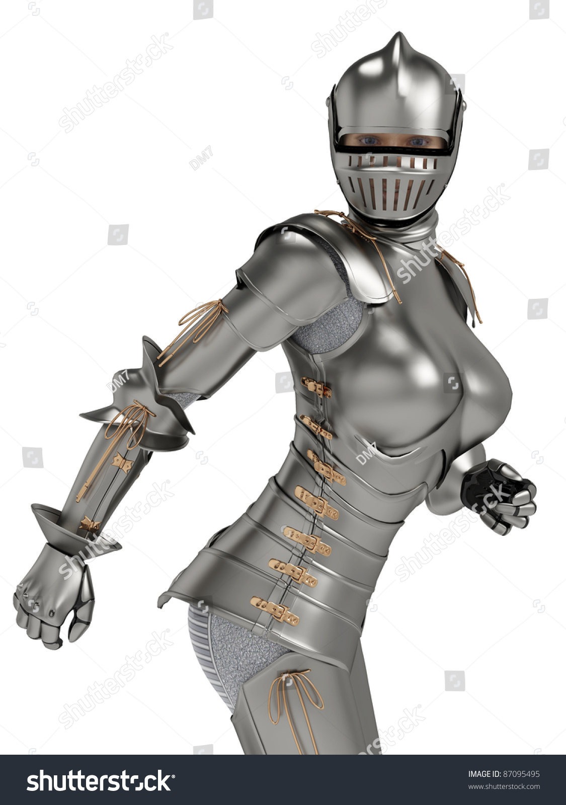 Knight Of Wands As Advice: Knight Metal Lady Ops Stock Photo 87095495 : Shutterstock