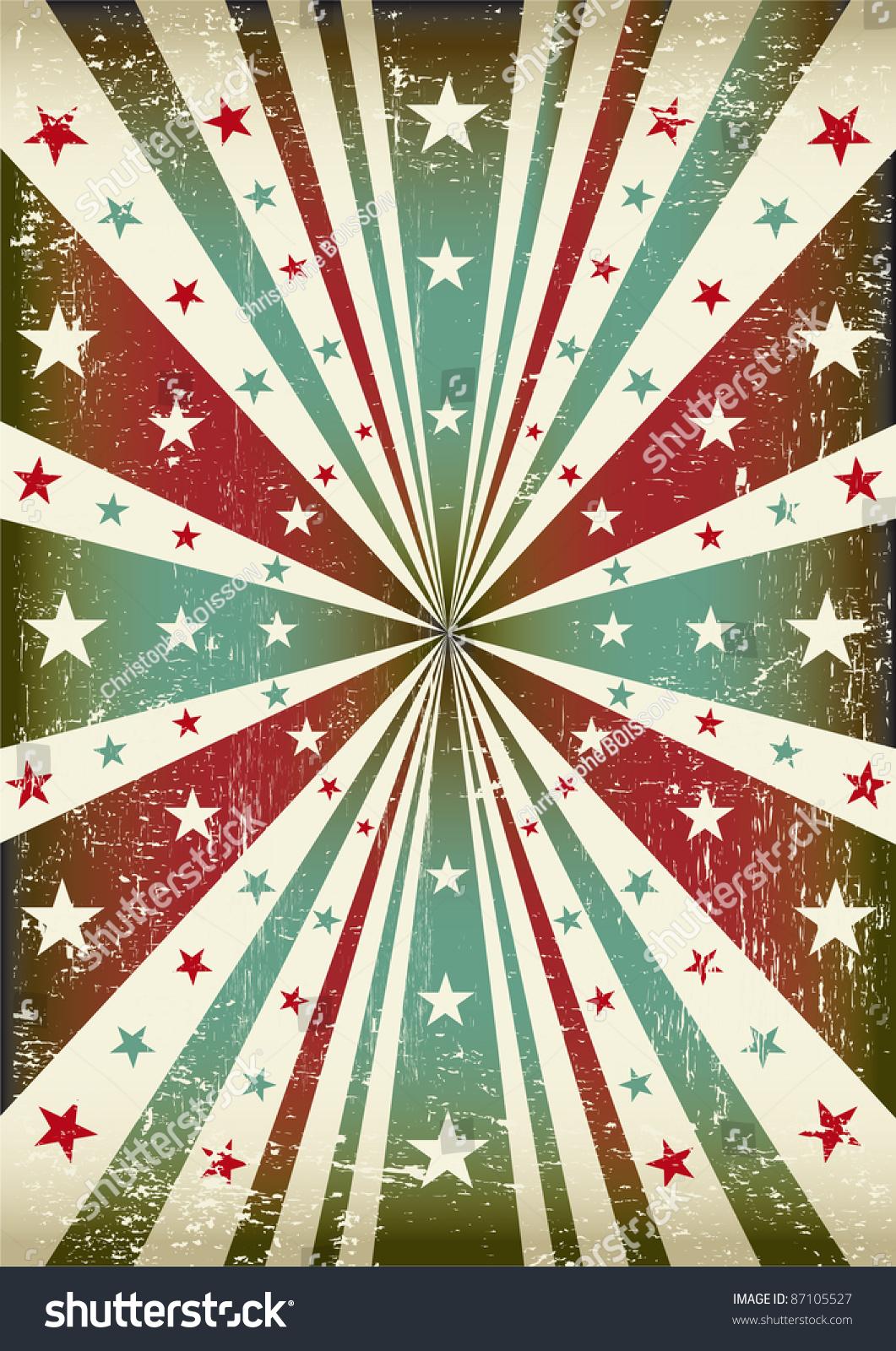 Tricolor Star Grunge Background Patriotic Vintage Stock ...