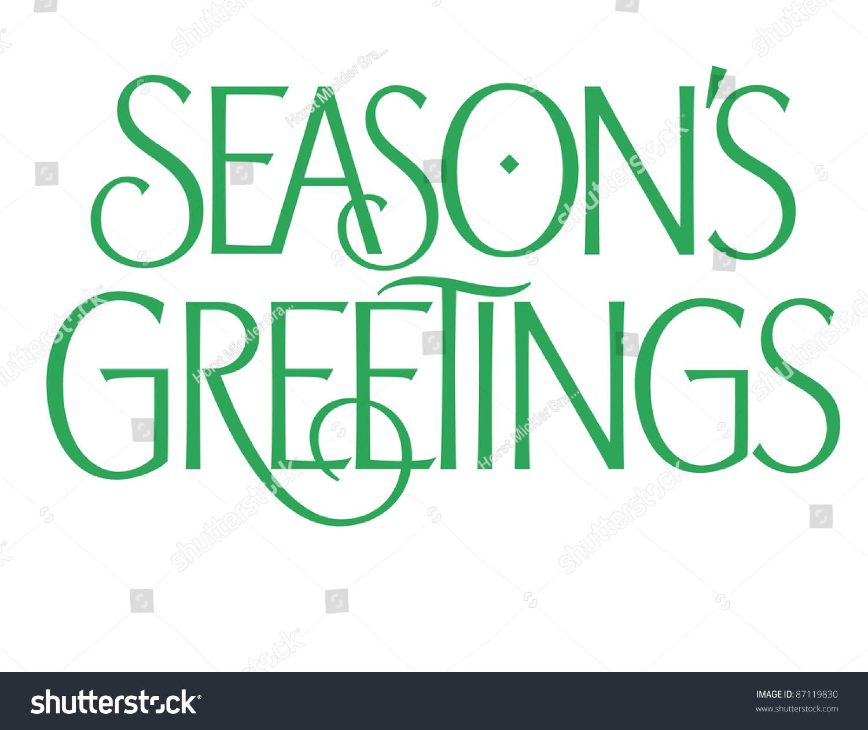 Formal Holiday Vector Lettering Series Seasons Stock Vector Royalty