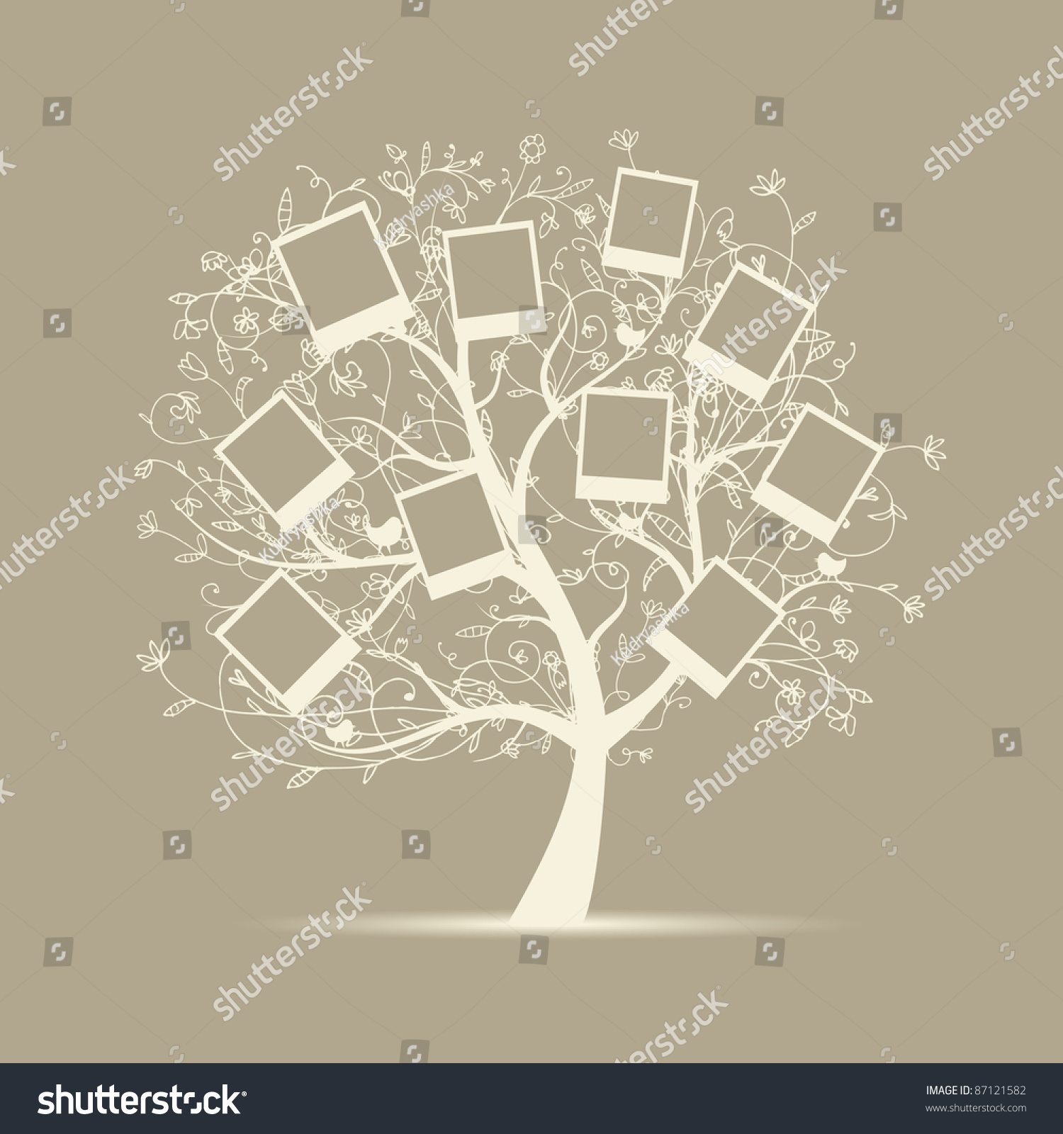 family tree design insert your photos stock vector 87121582