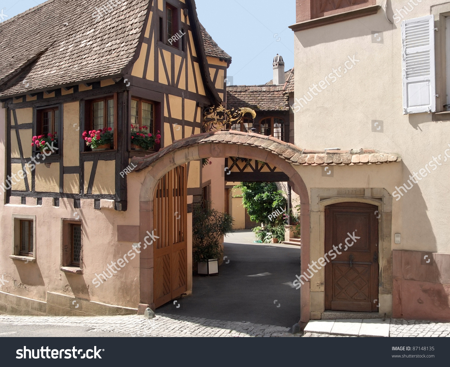 Strange Architectural Detail With Half Timbered House In Mittelbergheim A Largest Home Design Picture Inspirations Pitcheantrous