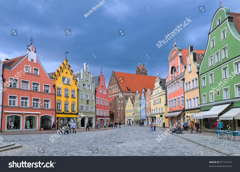 Old Town Landshut By Munich Bavaria Stock Photo 87153310