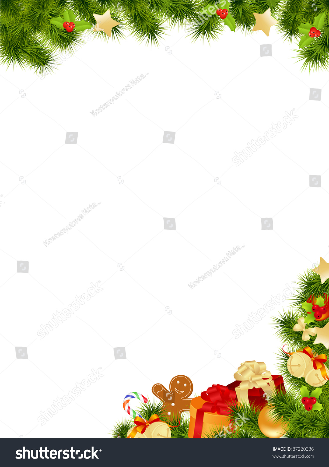 Christmas Card Background Vector Illustration Stock Vector (Royalty ...
