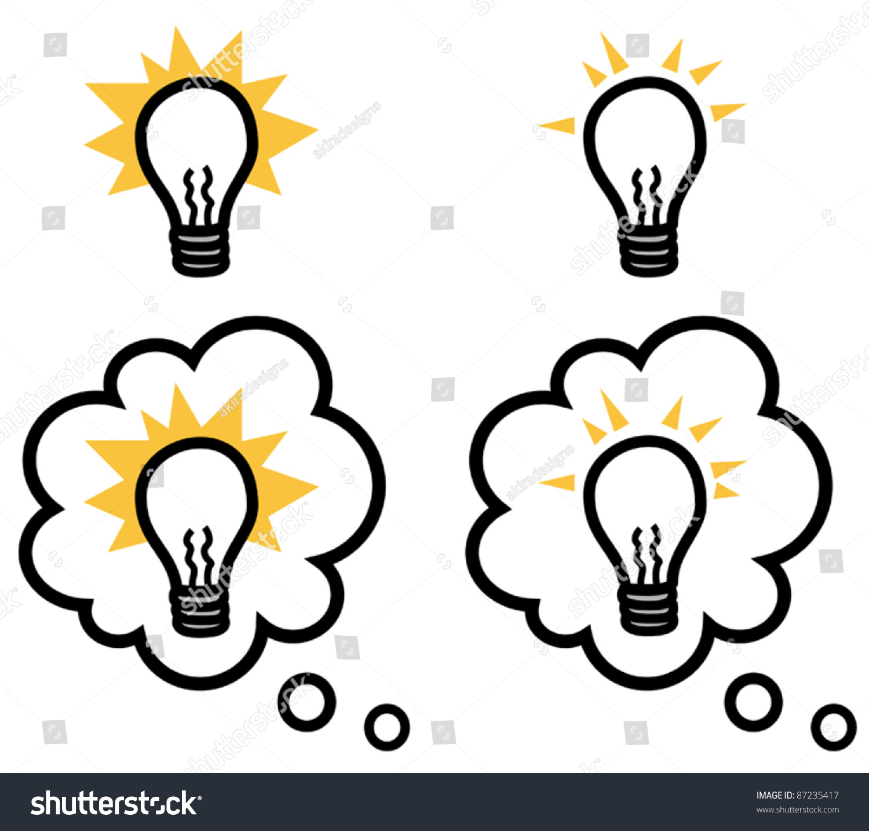 light bulb representing idea isolated thought stock vector 87235417 rh shutterstock com Remember Light Bulb Person Light Bulb Idea