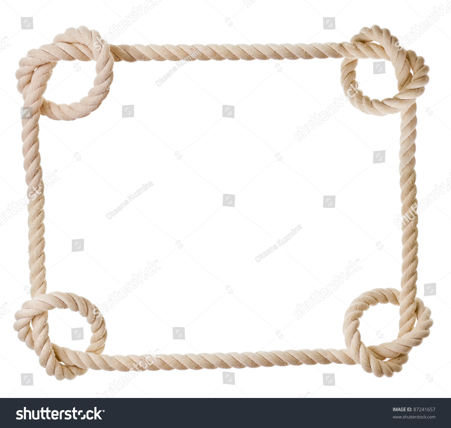 Frame made rope isolated on white stock photo 87241657 Rope photo frame