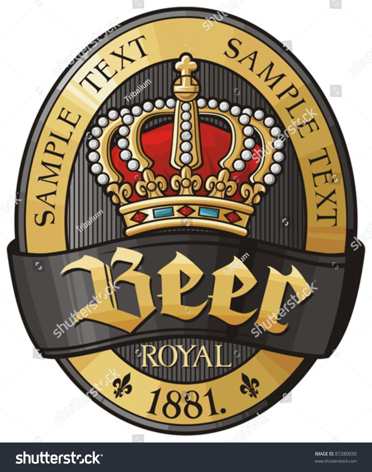 Beer Label Design Vector 87280030 Shutterstock – Beer Label