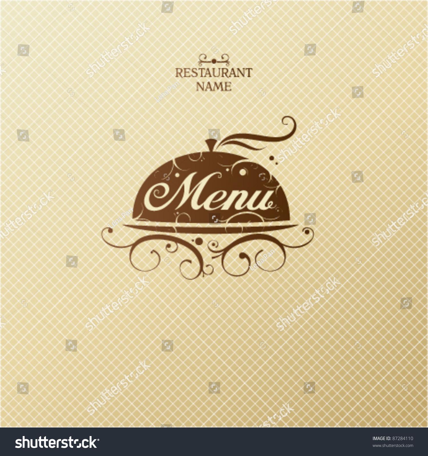 restaurant menu card design template stock vector 87284110
