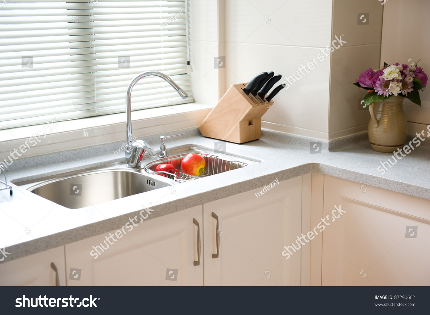 Interior design clean modern kitchen stock photo 87290602 for Clean interior design