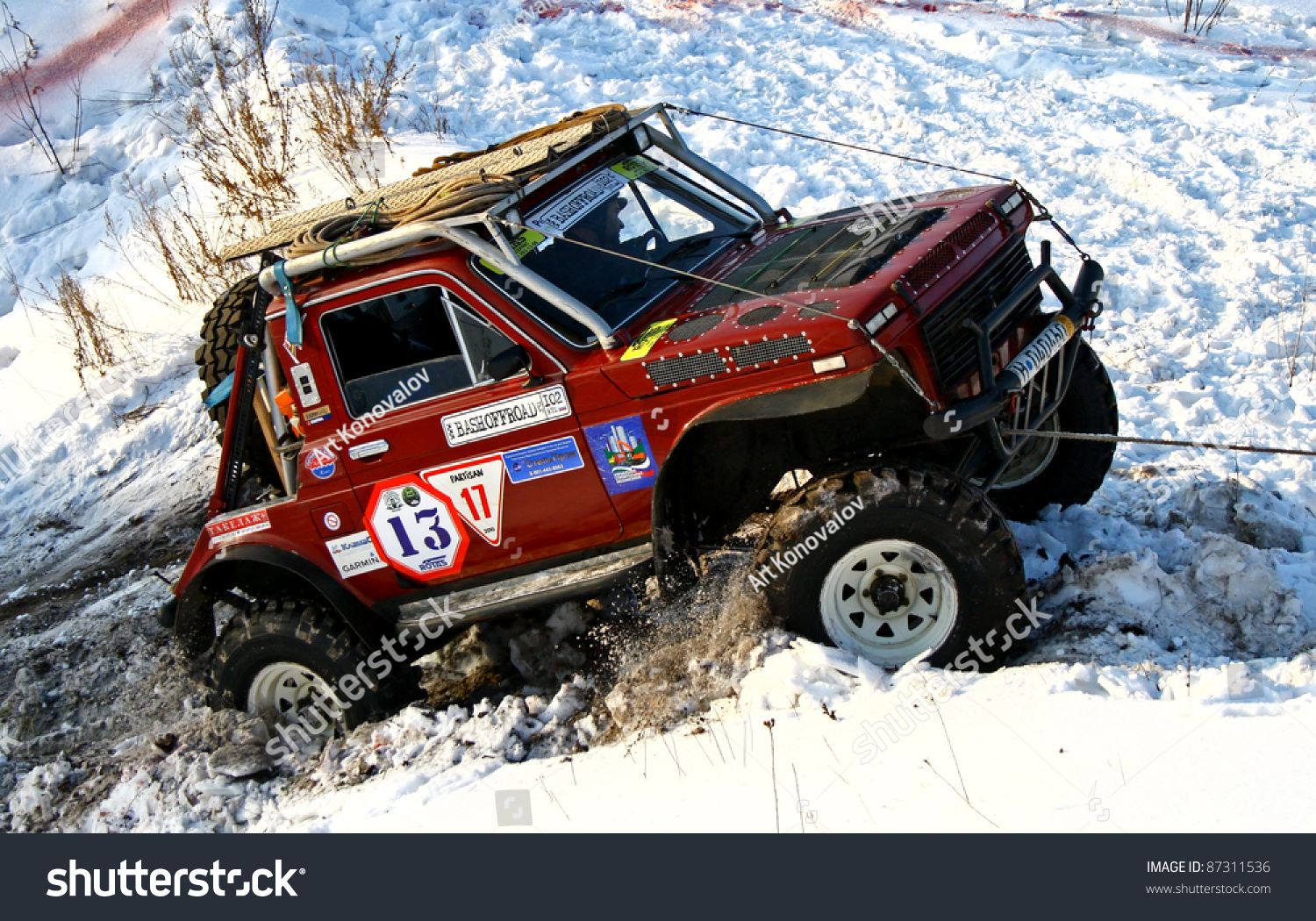 ufa russia december 18 offroad vehicle stock photo. Black Bedroom Furniture Sets. Home Design Ideas