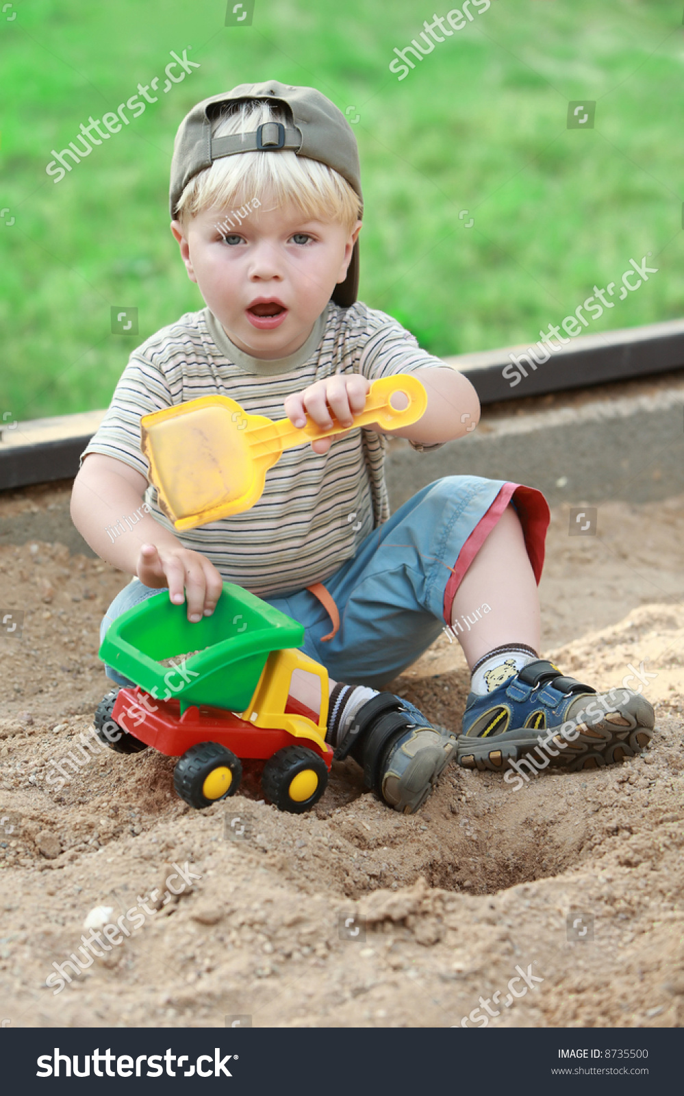 Hunting Toys For Little Boys : Boy little children child play playground color toy sand