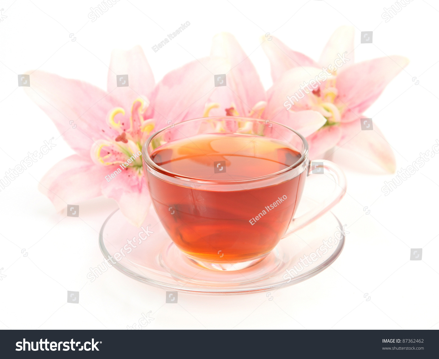 Pink Lilies And Tea Ez Canvas