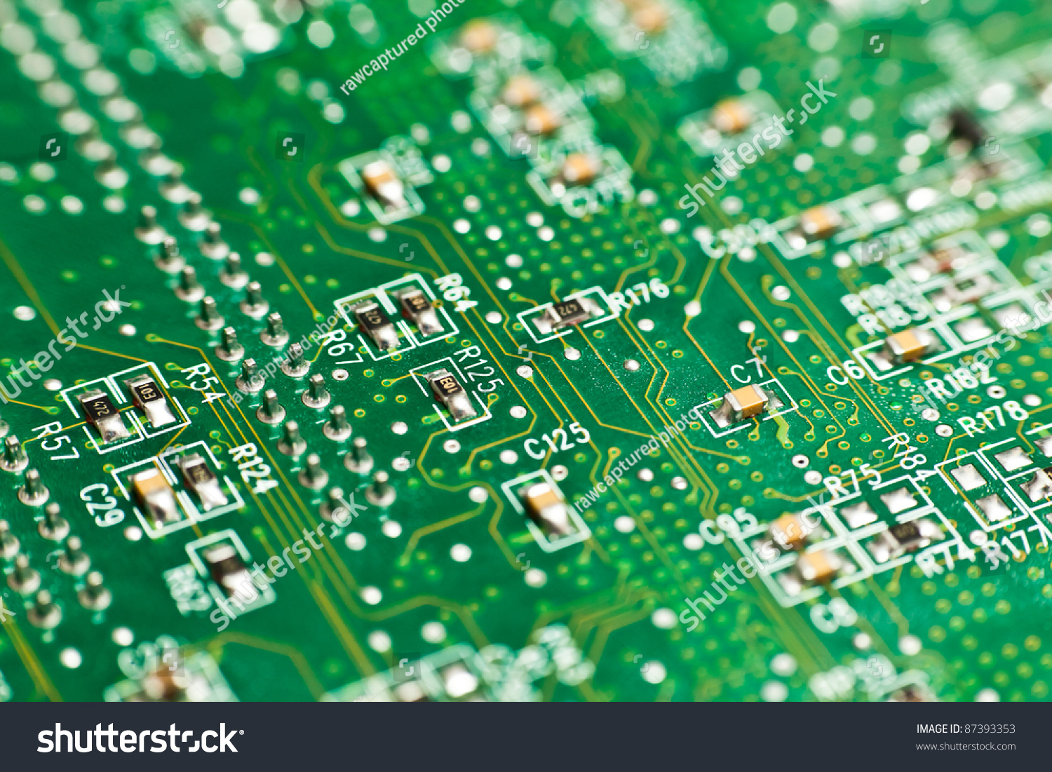 Printed Circuit Board Small Resistors Stock Photo Edit Now Resistor With