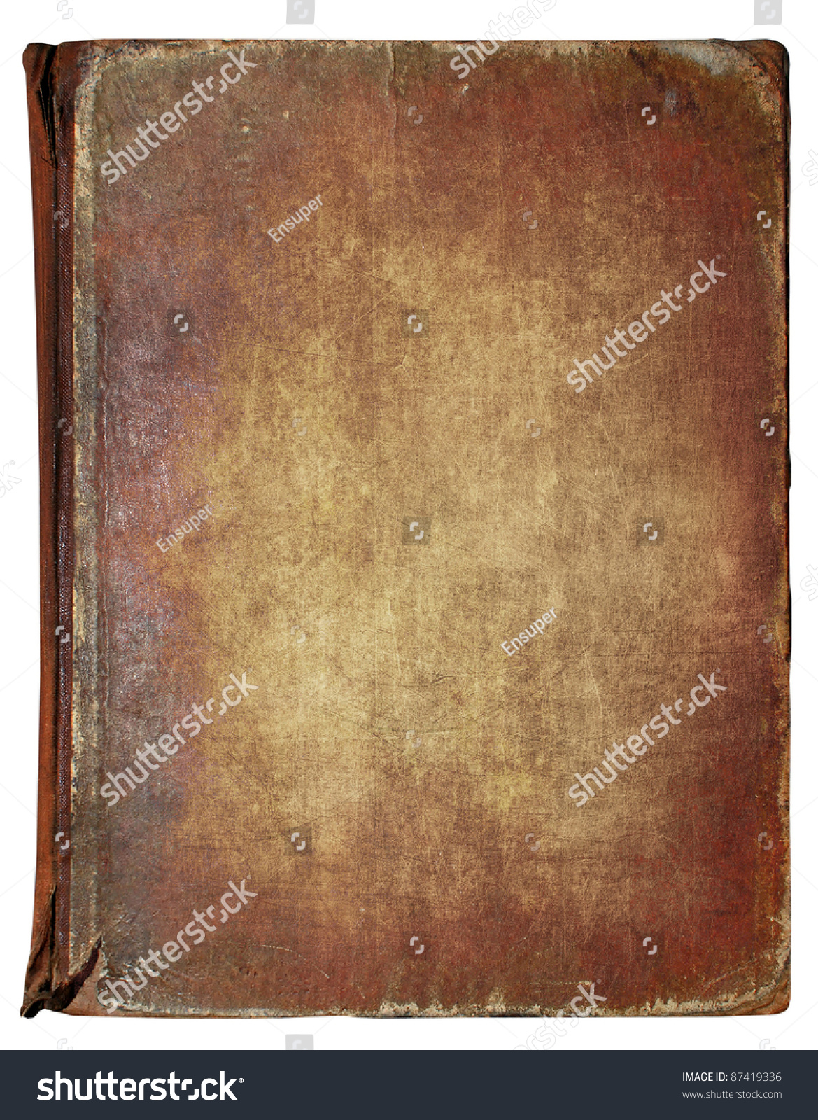 Vintage Book Cover Background : Old book cover vintage texture isolated stock photo