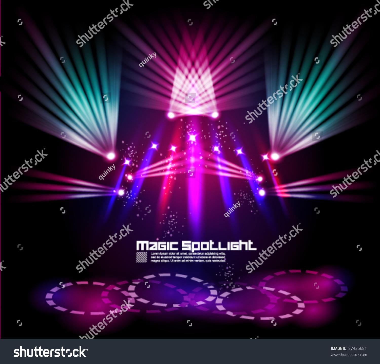 Magical spotlight effect vector background design stock for Spotlight design