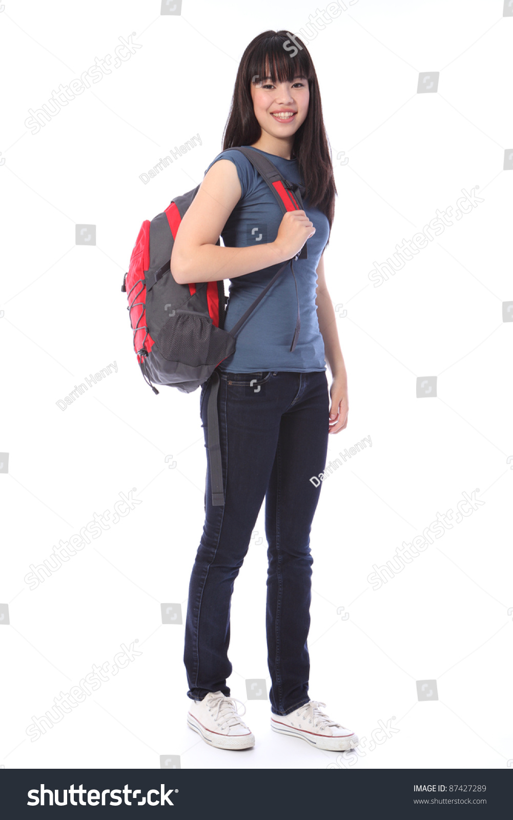 Beautiful Smiling Young Japanese Teenager High Stock Photo 87427289 - Shutterstock-9589