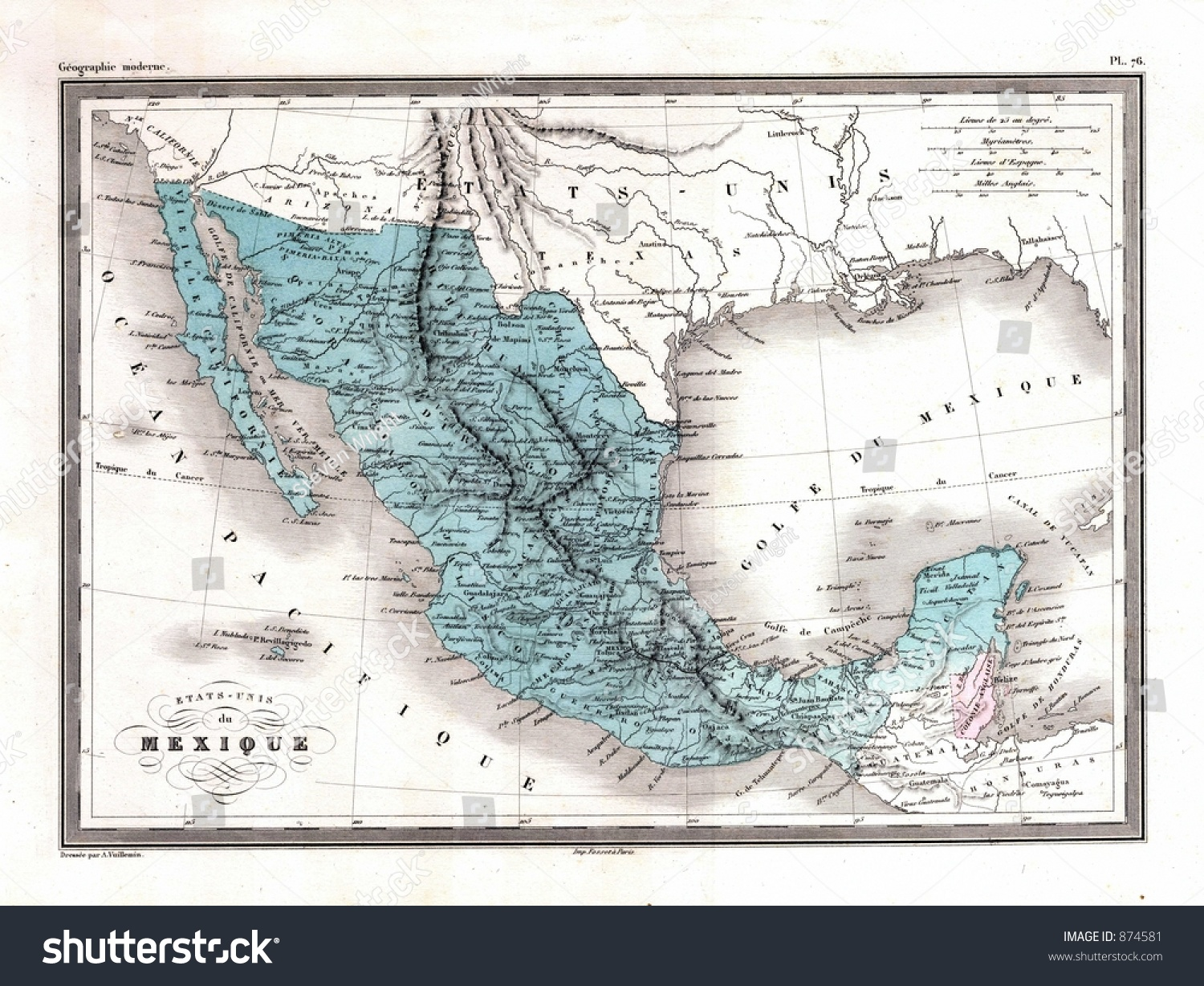 antique 1870 map mexico stock illustration 874581 shutterstock