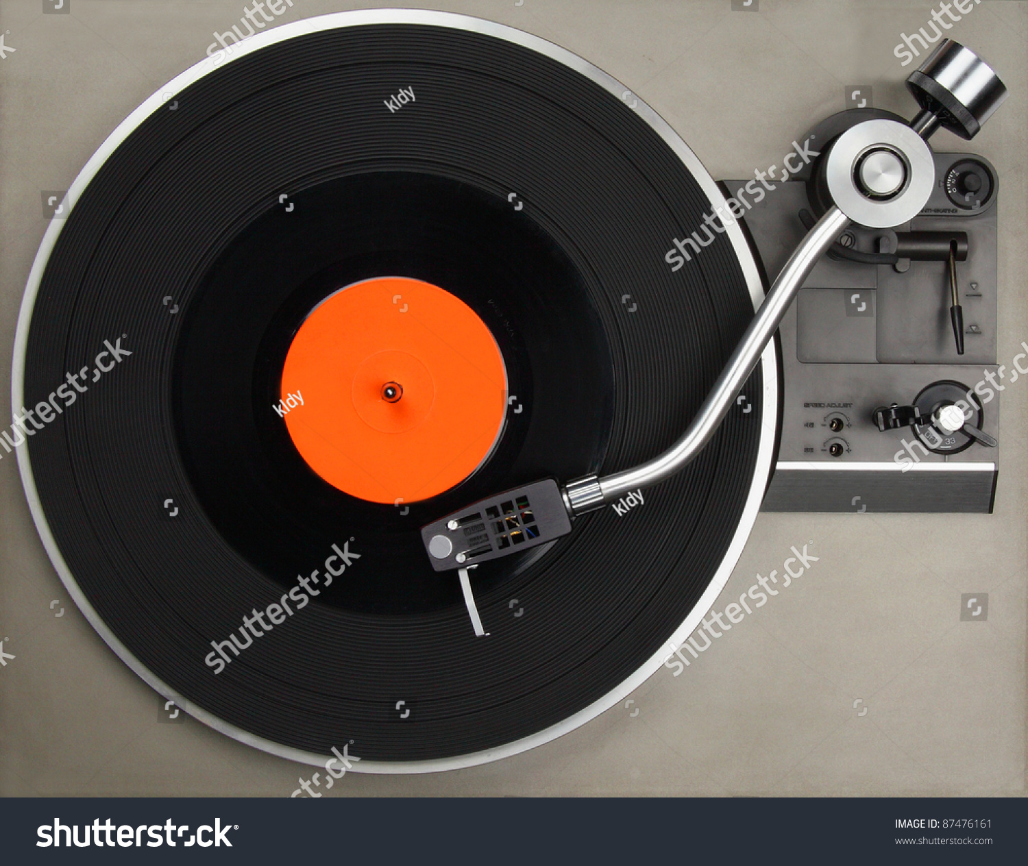 Vintage Record Player With Vinyl Record Stock Photo 87476161