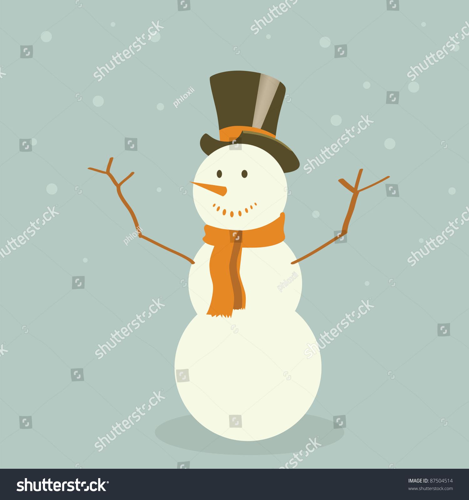 vintage snowman clipart - photo #17